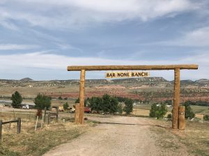 "Sign to ranch that says "" Bar-None Ranch"""